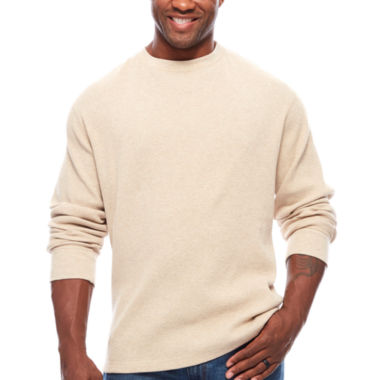 jcpenney.com | The Foundry Big & Tall Supply Co.™ Long-Sleeve Waffle-Weave Crew Shirt