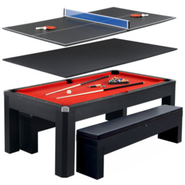 jcpenney.com | Hathaway Park Ave 7ft Pool Table Combo Set w/ Benches