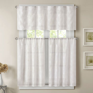jcpenney.com | Madison Park Kida Grommet-Top Kitchen Curtains Rod-Pocket Window Tiers