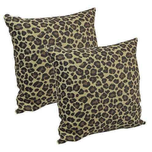 "Klear Vu 18"" Animal Print Decorative  Pillows, Set of 2"