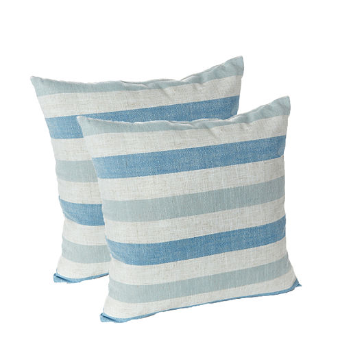 "Klear Vu 18"" Liza Stripe Decorative Pillows, Set of 2"