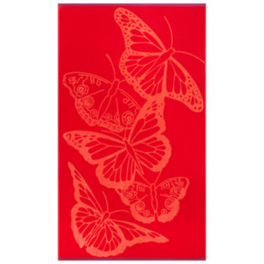 "jcpenney.com | Softesse™ Butterflies 40""x72"" Beach Towel"