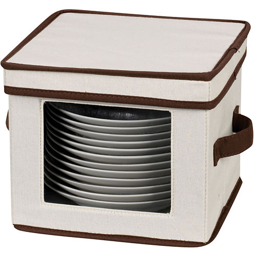 Household Essentials® Dessert Plate/Bowl Storage Chest
