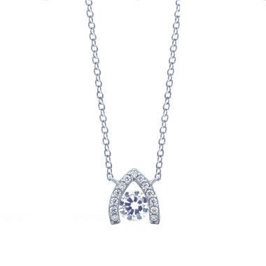 jcpenney.com | Diamonart Sterling Silver Cubic Zirconia Pendant Necklace