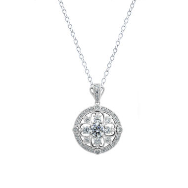 jcpenney.com | Diamonart Womens White Cubic Zirconia Sterling Silver Pendant Necklace