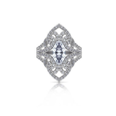 jcpenney.com | Diamonart Womens White Cubic Zirconia Sterling Silver Cocktail Ring