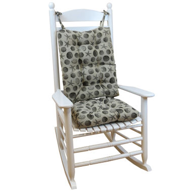 jcpenney.com | Klear Vu Seashell Jumbo Universal Rocking Chair Cushions