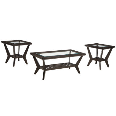 jcpenney.com | Signature Design by Ashley® Lanquist 3-pc. Glass Top Coffee Table