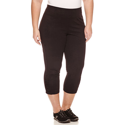 Made For Life Jersey Workout Capris Plus