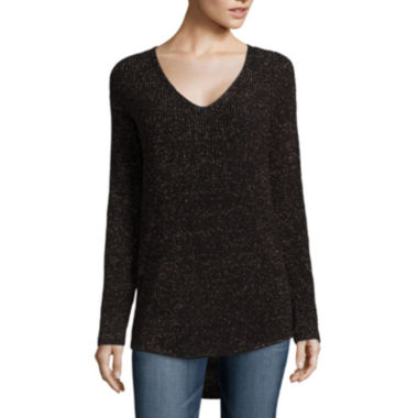 jcpenney.com | a.n.a® Long-Sleeve Shaker Sweater - Tall