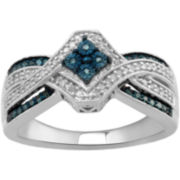 1/5 CT. T.W. White & Color-Enhanced Diamond Ring