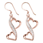 Love Grows™ 1/10 CT. T.W. Love Grows Double-Heart Earrings