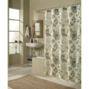 M.Style Morgan Blue Floral Shower Curtain