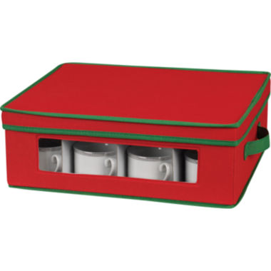jcpenney.com | Household Essentials® Red Holiday Cup Storage Chest