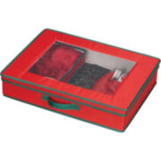 Household Essentials® Red Holiday Tabletop Set Storage Chest