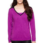 nicole by Nicole Miller® Chiffon-Back Sweater