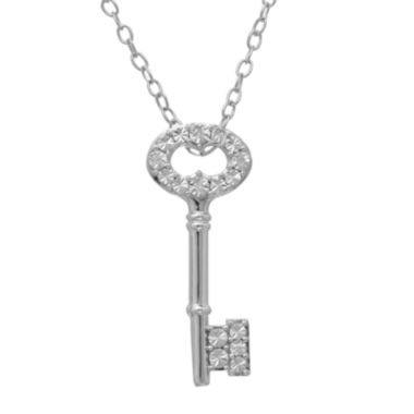 jcpenney.com |  Diamond-Accent Sterling Silver Key Pendant Necklace