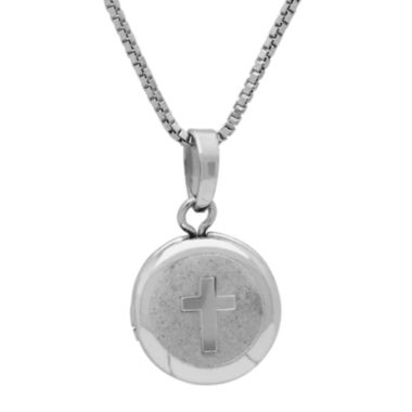 jcpenney.com |  Sterling Silver Cross Locket Pendant Necklace