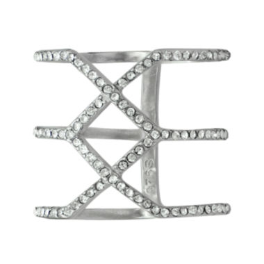 jcpenney.com | Sterling Silver Crystal Geometric Ring