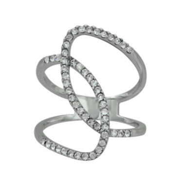 jcpenney.com | Sterling Silver Crystal Intertwined Circle Ring
