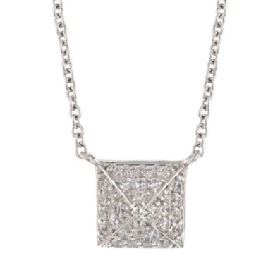 jcpenney.com | DiamonArt® .96 CT. T.W. Cubic Zirconia Sterling Silver Pyramid Cluster Necklace