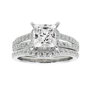jcpenney.com | DiamonArt® Cubic Zirconia Sterling Silver Bridal Set