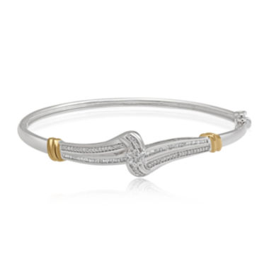 jcpenney.com | 1/2 CT. T.W. Diamond Two-Tone Cluster Bangle Bracelet