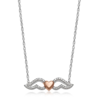 jcpenney.com | 1/10 CT. T.W. Diamond 14K Rose Gold Accent Wing Pendant Necklace