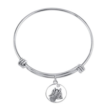 jcpenney.com | Inspired Moments™ Sterling Silver Angel Bangle Bracelet