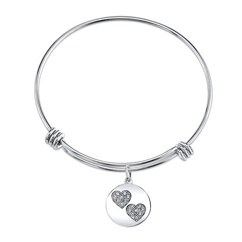 Inspired Moments™ Sterling Silver Sisters Bangle Bracelet