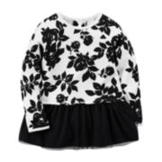 Carter's® Long-Sleeve Floral Tunic - Toddler Girls 2t-5t