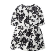 Carter's® Short-Sleeve Back and White Floral Dress - Preschool Girls 4-6x