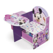 Disney Minnie Mouse Chair Desk with Storage Bin