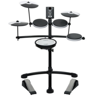jcpenney.com | Roland TD1KV V-Drum Compact Electronic Drum Kit with Silent Kick, Mesh Snare and Drum Head