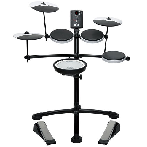 Roland TD1KV V-Drum Compact Electronic Drum Kit with Silent Kick, Mesh Snare and Drum Head