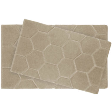 jcpenney.com | Laura Ashley™ 2-pc. Pearl Honeycomb Bath Rug Set