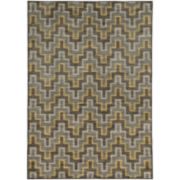 Contemporary Chevron Rectangular Rug
