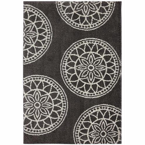 Mohawk Home® Gray Medallions Rectangular Rug