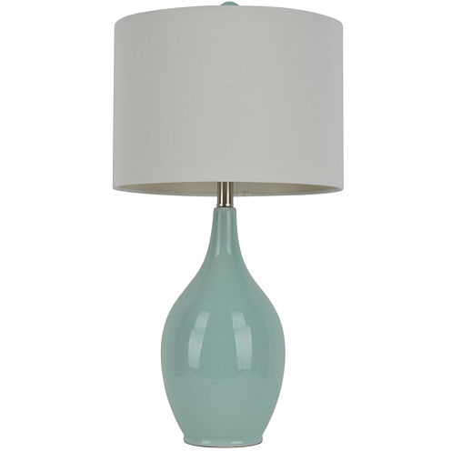 J. Hunt Home Spa-Blue Ceramic Table Lamp
