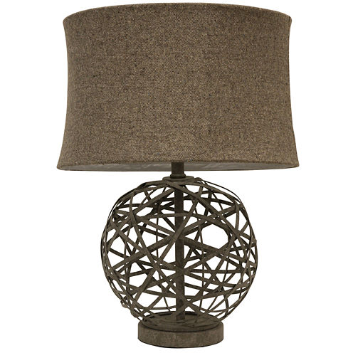 J. Hunt Home Strapped Steel Ball Table Lamp