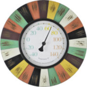 Coral Burst Outdoor Thermometer