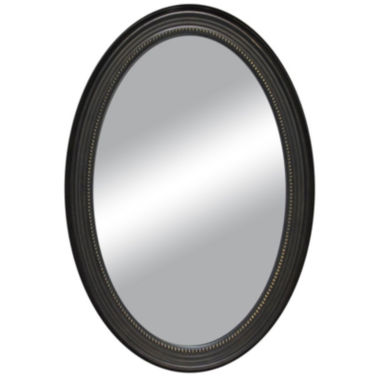 jcpenney.com | Oval Distressed with Beaded Inlay Wall Mirror