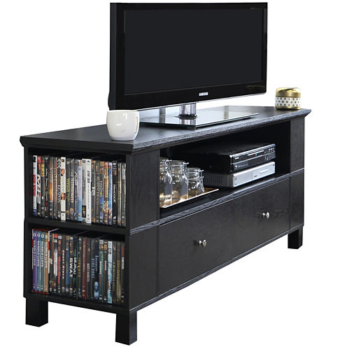 "McCallister 60"" Black Wood Entertainment Center"