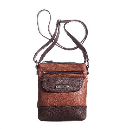Stone And Co North/South Flap Pocket Pebble Leather Mini Crossbody Bag