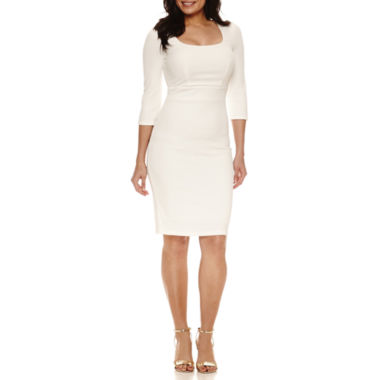 jcpenney.com | Bisou Bisou 3/4 Sleeve Sheath Dress