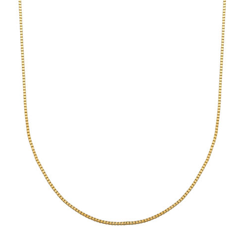 LIMITED QUANTITIES! 14K Yellow Gold 063 Box Chain Necklace
