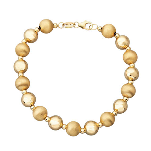 Limited Quantities! Womens 14K Gold Beaded Bracelet