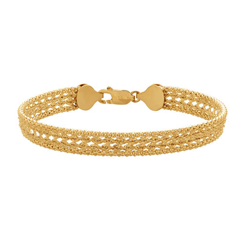 Limited Quantities! Womens 7 1/4 Inch 14K Gold Link Bracelet