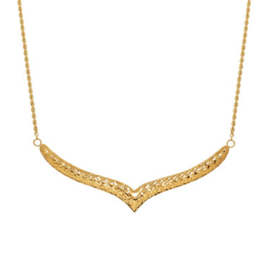 jcpenney.com | Limited Quantities 14K V Shaped Bar Necklace