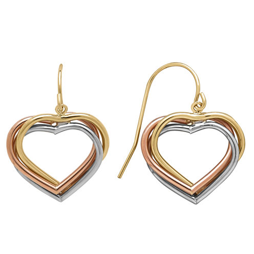 Limited Quantities 10Kt Pol 3C Triple Heart Dangle 13X15Mm